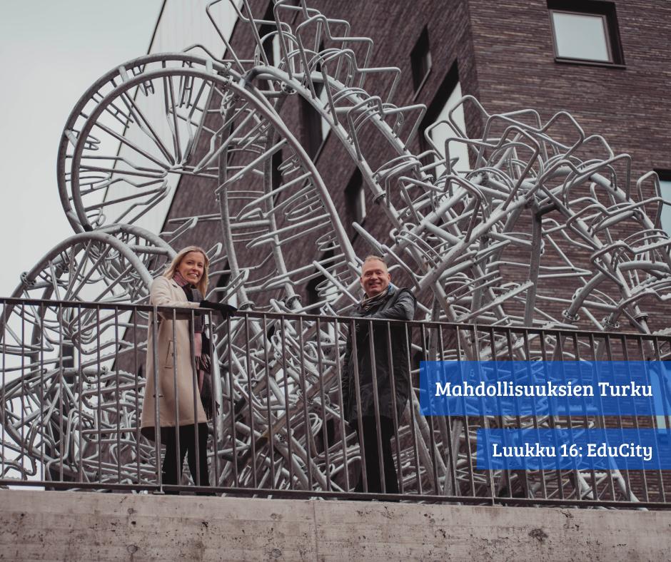 Turun Kupittaan kampuksella sijaitseva uusi EduCity on suunniteltu niin AMK-yhteisön kuin yritystenkin käyttöön! Tästä voimme kaikki olla ylpeitä! Seuraavaksi kaupunkikehitys vahvasti liikkeelle radan toiselta puolelta, jossa sijaitsee yksi Turun kärkihankkeista – Turun Tiedepuisto!