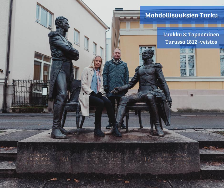 Turku huokuu historiaa. Ketkä neljä ovat kuvassa?